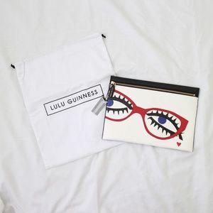 LULU GUINNESS Designer Clutch Handbag Archive Eyes